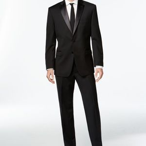 Calvin Klein Slim Fit Tuxedo with Tie and Bow Tie